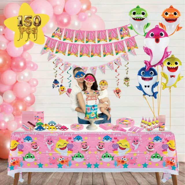 Baby Shark Party Supplies Girl Baby Shark Birthday Party Decorations Baby Shark Greeting Cards Party Supply Patterer Party Supplies