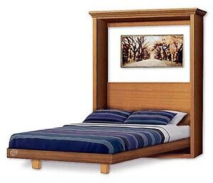 Murphy Craftsman Design Bed Frame Queen Size Wall Bed