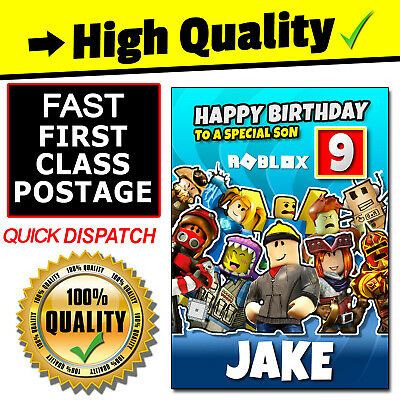 personalised roblox birthday card age