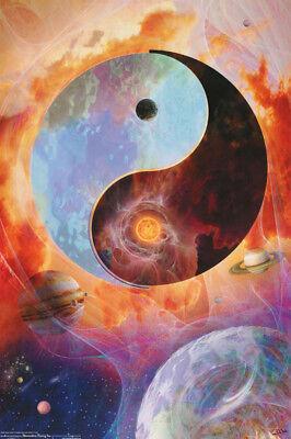 poster psychedelic yin yang in farbe versandkostenfrei 3352 lp58 i ebay