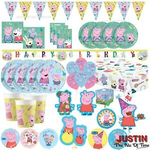 Peppa Pig Happy Birthday Party Supplies Tableware Decorations Balloons Banners Ebay