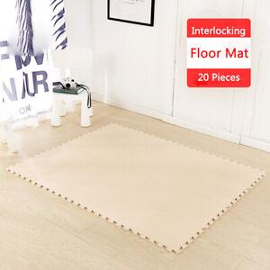 details sur 20pcs tapis de puzzles tapis de sol enfant et bebe en mousse ideal pour