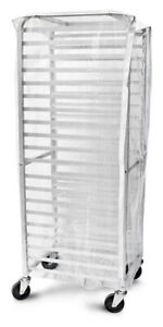 details about clear plastic rack cover for 20 tier sheet bun pan rack full size heavy duty