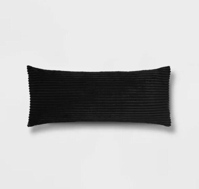 room essentials black ebony fuzzy 20 x 50 in body pillow cover