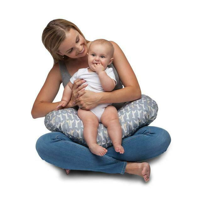 original boppy pillow cover slipcover baby nursing support classic gray giraffe
