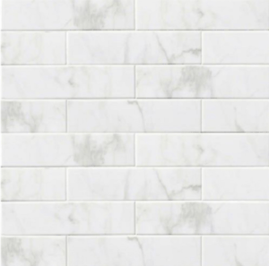 details about 4 x16 subway backsplash tile ceramic glossy white carrara bathroom kitchen