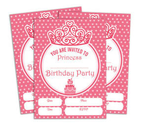 Details About Birthday Invitation Card 28 Pcs Blank Invites Printable Party Supplies Ds In134a