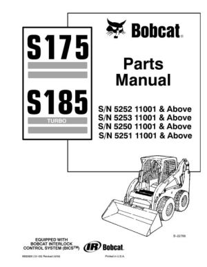 Bobcat S175 S185 Parts Manual 6902826 for sale online | eBay