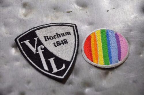faber logo vfl bochum 1848 6cm x 6 5cm wappen aufnaher 90er trikot bugelbild fussball sport
