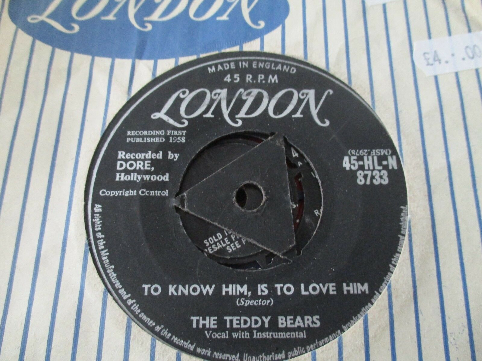 THE TEDDY BEARS/TO KNOW HIM IS TO LOVE HIM