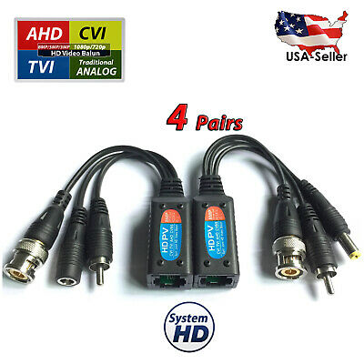 8mp cctv camera passive power video audio balun ptz data via utp rj45 cat5  cat6 632317015127  ebay