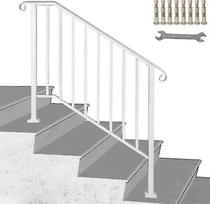 Wrought Iron Handrail Picket 3 Fits 3 Or 4 Steps Outdoor Steps | Wrought Iron Steps Outdoor | Wood Interior | Current | Iron Handrail | Staircase | Backyard