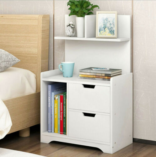 home storage solutions bedside table cabinet bedroom 2 drawer chest small storage nightstand white new home furniture diy zu studentlounge de