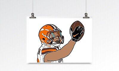 odell beckham jr wall art print poster gift cleveland browns a4