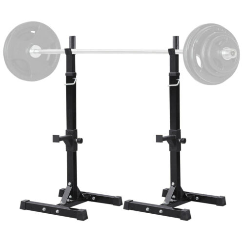 adjustable portable squat power rack weight bench press barbell stand holder gym