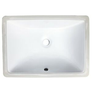 details about 16x11 undermount bathroom small sink rectangle narrow white fits 18 vanity