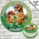 The Good Dinosaur Edible Round Birthday Cake Topper Decoration Personalised Ebay