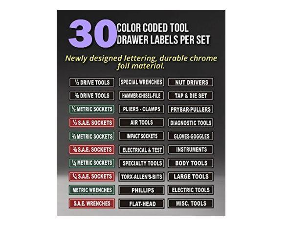 Tool Box Craftsman Labels