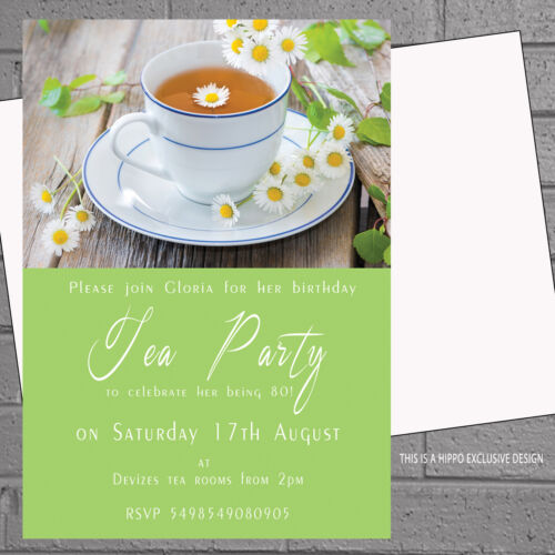 greeting cards invitations 12 x personalised afternoon tea birthday party invitations daisyh0836 alp prodavnica rs
