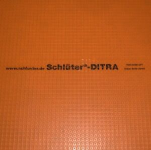 details about schluter ditra membrane tile underlayment sold by sq ft best price on ebay