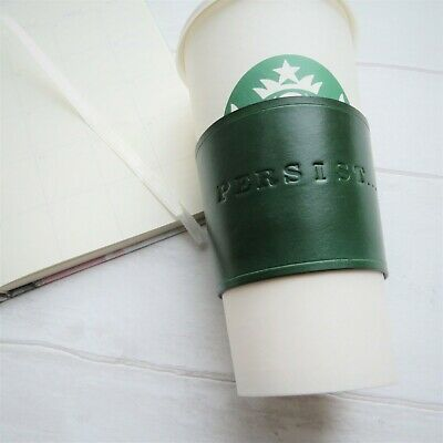 personalised coffee cup leather wedding anniversary gift starbucks reusable mug ebay