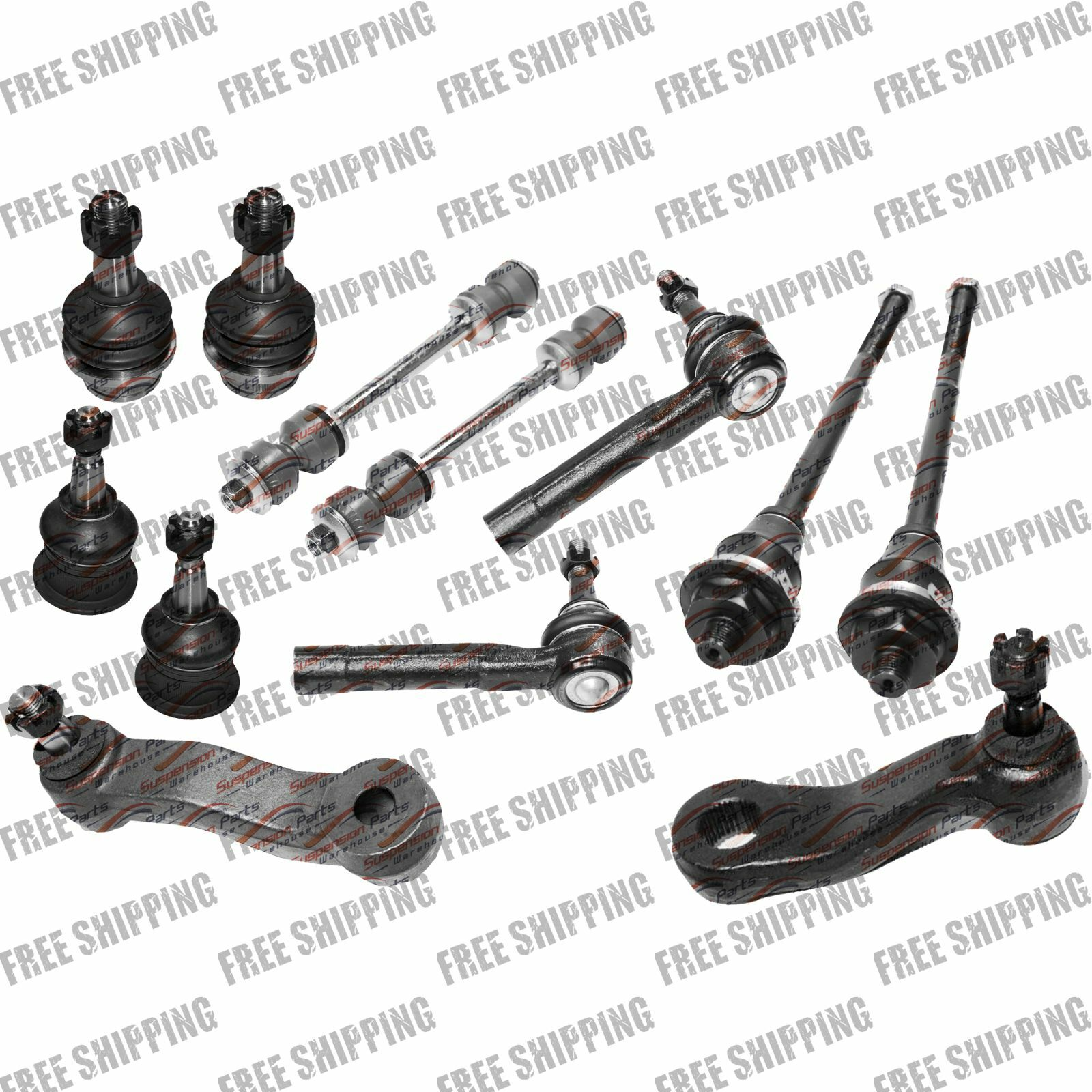 Front Steering Tie Rod End Ball Joint Sway Bar Link