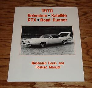 1970 Plymouth Belvedere Satellite GTX Road Runner Facts Feature Manual 70 | eBay