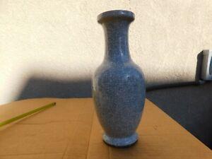 """Antique Chinese Mono Glaze Grey Ice Crack Porcelain Vase 12"""""""