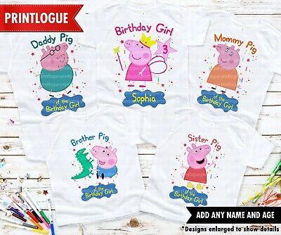Peppa Pig Birthday Shirt Peppa Pig Family Shirt Family Matching Birthday Shirt Ebay