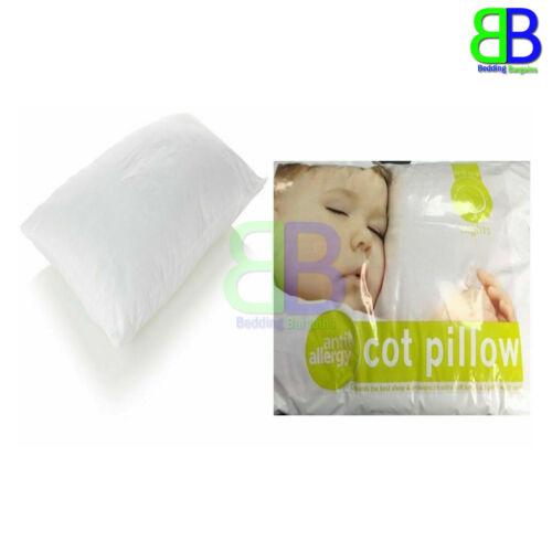 baby anti allergy cot bed pillow filling nursery kids baby junior toddler 40 x 60cm casacarpedm
