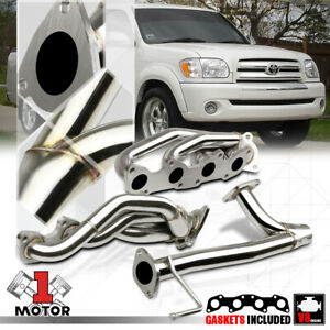 details about ss exhaust header manifold y pipe for 05 06 toyota tundra sequoia 2uz fe 4 7 v8