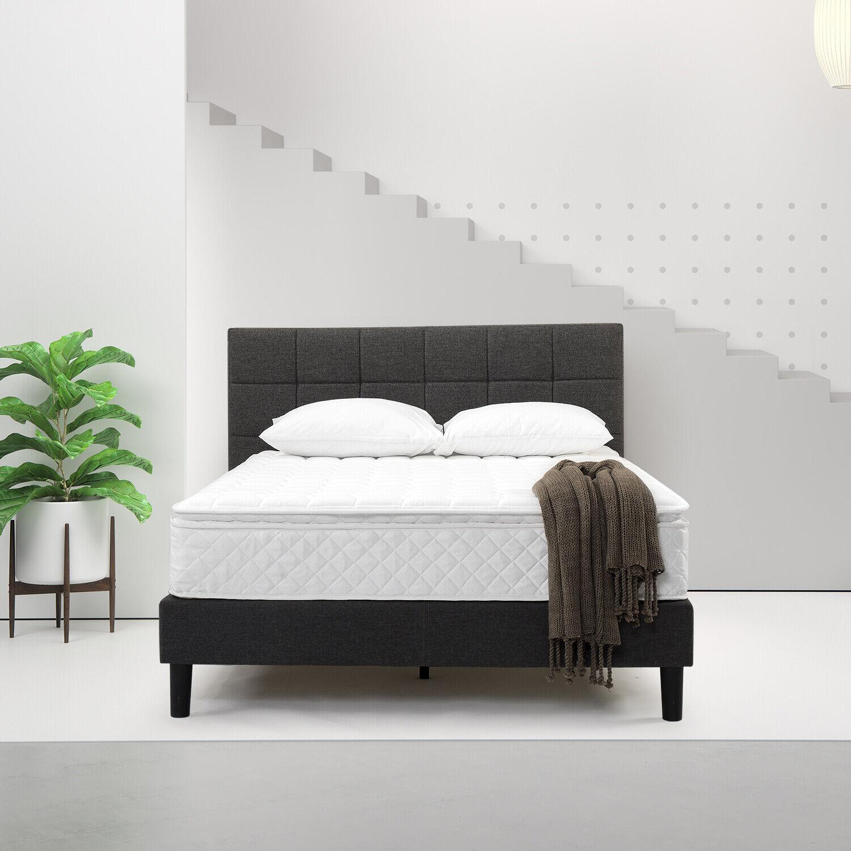 slumber 1 m smp 1000q 10 inch queen size dream pillow top mattress