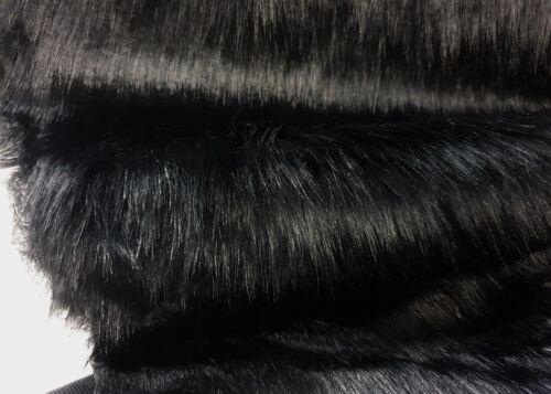 fourrure cheveux longs calin fausse fourrure tissu noir deco tapis nb7121