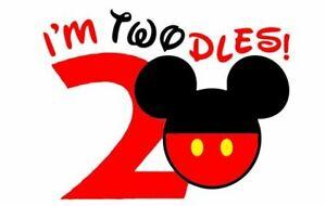 Disney Mickey Mouse I M Twodles Second Birthday Shirt Iron On Transfer Ebay