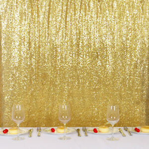 details about 20ftx10ft gold glitter sequin wedding backdrop curtain photo booth background