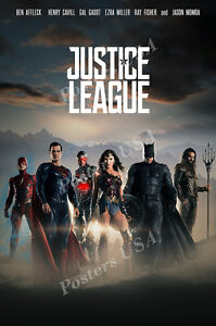 details about posters usa dc justice league movie poster glossy finish fil034