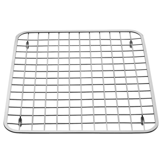 stainless steel kitchen sink grid bottom protector wire drain rack rubber feet