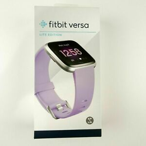 Fitbit FB415SRLV Versa Lite Edition SmartWatch with Small & Large Band, Lilac