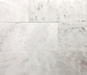details about glacier white 6x12 polished beveled marble tile floor wall backsplash kitchen