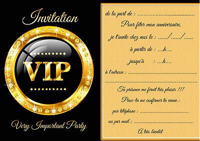 5 12 ou 14 cartes invitation anniversaire vip ref 460 ebay