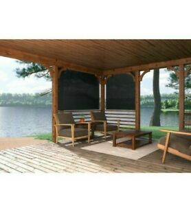 details about coolaroo pewter gray outdoor fade resistant fabric exterior roller shade 96 x 72