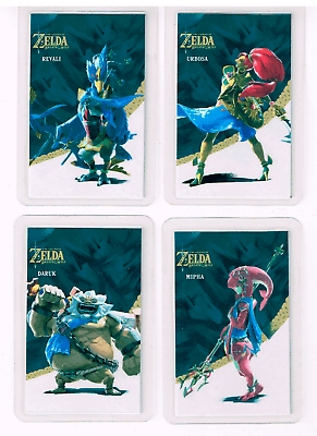 Zelda Breath Of The Wild Cartes Lot 4 Cartes Amiibo Daruk Urbosa