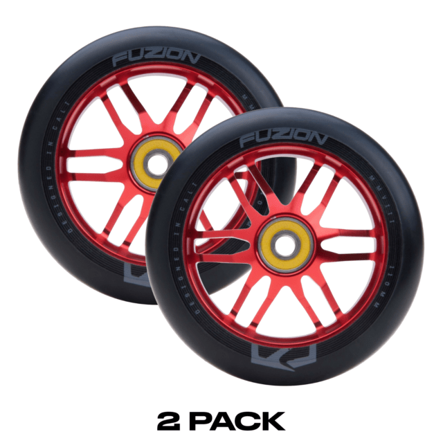Fuzion Dose 110mm Pro Scooter Wheels Black & Red (2 Wheels ...