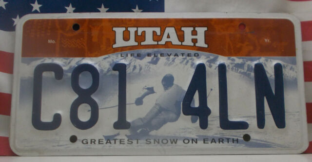 Utah License Snowmobile