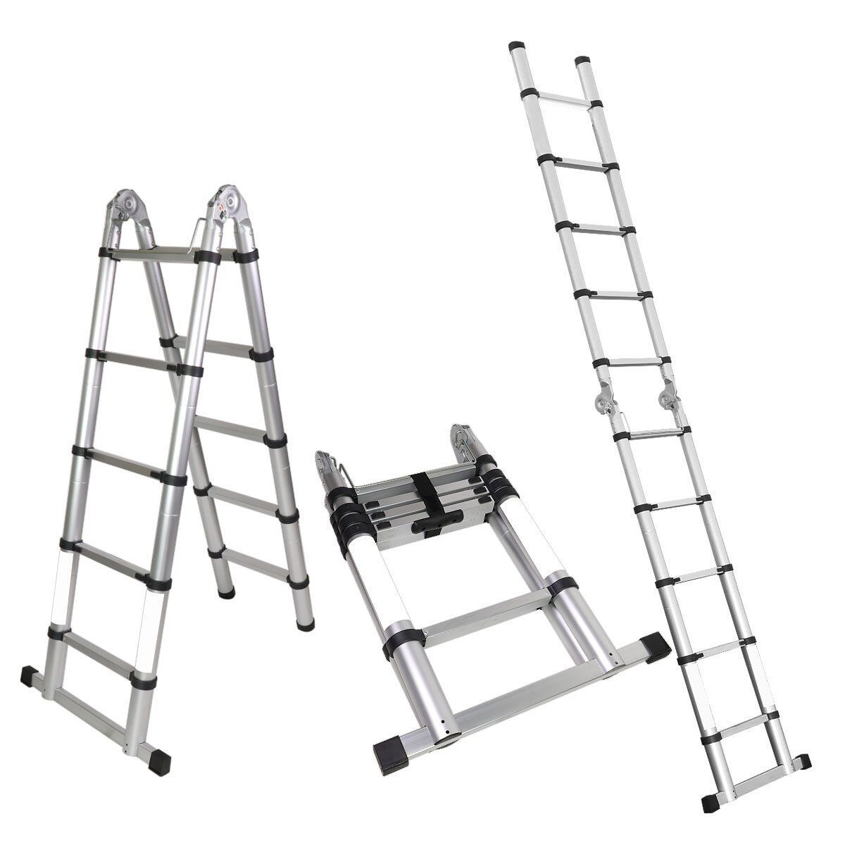 A Frame 10 5 Ft Aluminum Ladder Telescopic Extension Tall