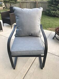 details about living accents 6 piece patio dining chair and cushion set