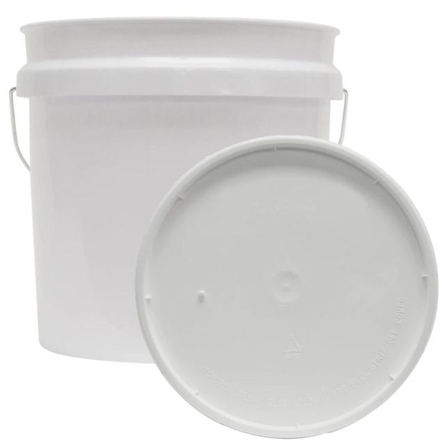 2 GALLON RESIDENTIAL BUCKET Food Grade BPA Free Plastic Storage Holder With Lid 2