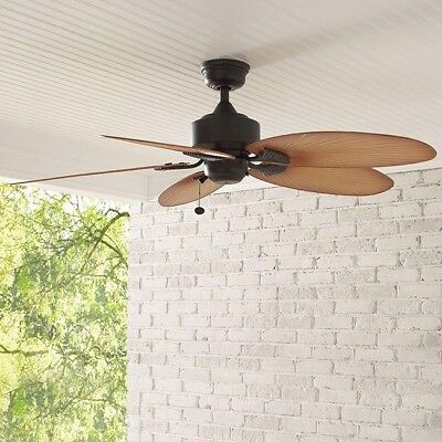 ceiling fan indoor outdoor screened porch covered patio tropical 52 inch 3 speed 82392327118 ebay