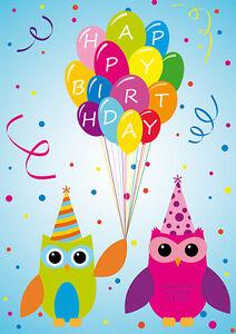 Geburtstagskarte Pinguin Mit Ballons Winterlichen