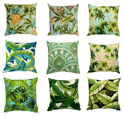 green tropical palm indoor outdoor cushion covers australian made ebay